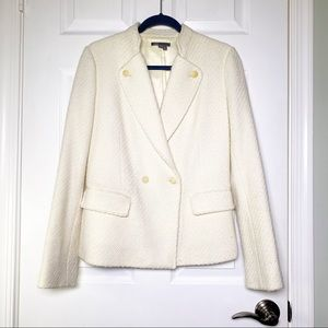 Vince Boucle Cream Double Breasted Blazer